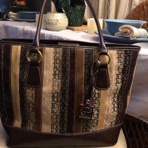 Gianni Bernini Brown multicolored tote bag